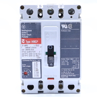 * WESTINGHOUSE HMCP015E0C CIRCUIT BREAKER 15A 3 POLE 250 VDC 600 VAC
