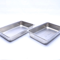 * LOT OF (2) POLAR WARE 1202 STAINLESS STEEL TRAYS 2.5 QT / 2.38L
