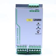 * NEW PHOENIX CONTACT QUINT-PS/3AC/24DC/20 POWER SUPPLY 20 AMP 24 VDC