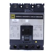 * SQUARE D FAL34020 THERMAL MAGNETIC CIRCUIT BREAKER 20A 480VAC