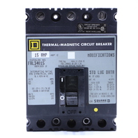 * SQUARE D FAL34015 15A THERMAL MAGNETIC CIRCUIT BREAKER 480VAC SERIES 2 MODIFICATIONS