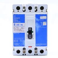 * WESTINGHOUSE EHD 14k EHD3025L 25 A 480V CIRCUIT BREAKER