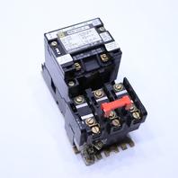* SQUARE D 8536SB02 SIZE 0 CONTACTOR 110-120V COIL 50-60HZ