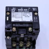 * SQUARE D 8536SC03 SIZE 1 MOTOR STARTER 110-120V COIL 50-60HZ