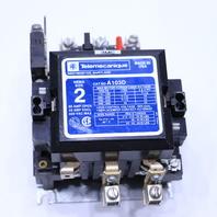 * TELEMECANIQUE A103D SIZE 2 480V COIL 50-60 HZ CONTACTOR