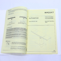 *  MAQUET ALPHASTAR 1132.01AX/BX 1132.02AX/BX INSTRUCTIONS for USE BOOKLET