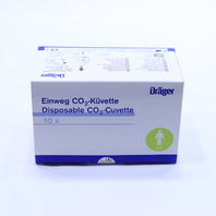 * NEW DRAGER MP01062 EINWEG CO2 KUVETTE AIRWAY ADAPTER QTY. 10