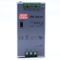 * MEAN WELL DR-120-24 RAIL MOUNT POWER SUPPLY 24V 5.0 OUTPUT