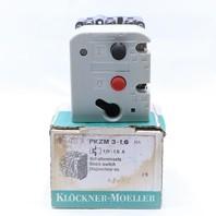 * NEW KLOCKNER MOELLER PKZM3-1.6-U-NA 0.8-1.5AMP  STARTER MOTOR PROTECTOR