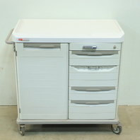 * METRO STARSYS ANTIMICROBIAL SXR MOBILE SUPPLY CART UNIT LOCKING WHEELS