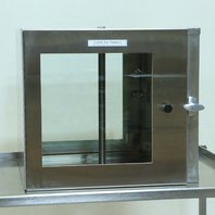 """* CLEAN AIR PRODUCTS GLASS STAINLESS STEEL PASS THROUGH 22.75""""W x """"20H x 20""""D"""
