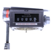 LIQUID CONTROLS 788700 002 METER MECHANICAL REGISTER W/ VEEDER-ROOT 767181-32 PULSE TRANSMITTER7