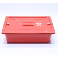 * HEALTHMARK SST INSTRUMENT RETRIEVAL TRAY MID SIZE w/ LID LATCHES