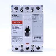 EATON HFD 65K HFD3090L 90 AMP 600V 250VDC 3 POLE CIRCUIT BREAKER