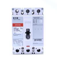 EATON HFD 65K HFD3030L 30 AMP 600V 250VDC 3 POLE CIRCUIT BREAKER
