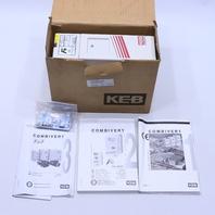 KEB COMBIVERT 10.F4.F3D-4R05 DRIVE INVERTER AC 4.0KV
