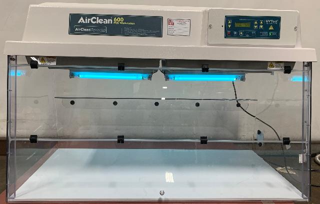 AirClean 600 PCR Workstation Fume Hood UVTect AC648LFUVC
