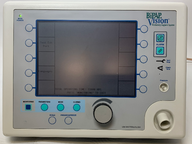 RESPIRONICS BIPAP VISION 582059 VISION VENTILATOR w/ 11688 OPERATING HOURS