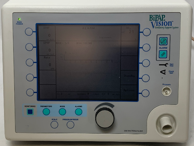 RESPIRONICS BIPAP VISION 582059 VISION VENTILATOR w/O2-B - 236 Operating Hours