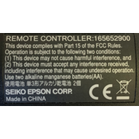 NEW Epson Seiko Projector Remote 165652900