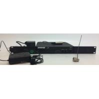 SHURE LX3-CP RECEIVER, LX1-CP BODYPACK TRANSMITTER, ANTENNA, RACK 196.600 MHZ