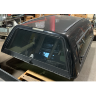 Nice ARE MX 8ft Truck cap Camper Shell With Tool Boxes Black GMC Chevy 2008-2013