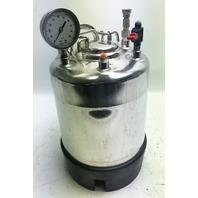 Apache Stainless T316L 165psi 100°F Pressure Vessel w/ gauge