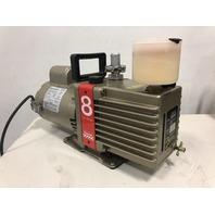 Edwards 8  E2M8 Laboratory Dual Stage Rotary Vane Vacuum Pump 1/2 HP