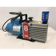 Edwards 8  E2M8 Laboratory Dual Stage Rotary Vane Vacuum Pump GE 3/4 HP Motor