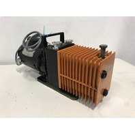 Alcatel 2008A Dual Stage rotary Pump w/ Leeson Motor 100020-01 model# A4C17DC4A