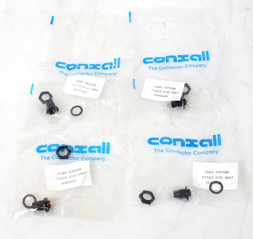 Lot of 4 Switchcraft/ Conxall 17282-2PG-300 2-Way Micro-Con-X  Connector ST0036043