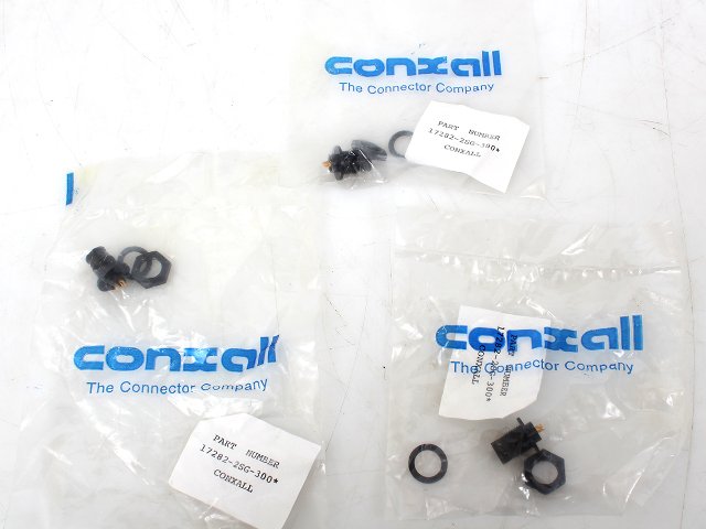 Lot of 3 Switchcraft/ Conxall 17282-2PG-300 2 Contact, Panel Mount Plug
