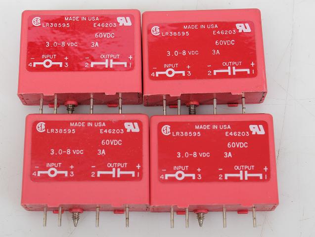 Lot of  4  Gordos LR38595 E46203 0DC5 Relay 3.0-8 VDC 3A 60VDC