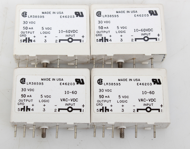 Lot of  4  Gordos LR38595 E46203 1DC5N Relay 30VDC 50mA 10-60 VAC-VDC