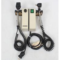 Welch Allyn 74710 Otoscope Ophthalmoscope Transformer w/Heads 25020a 11720