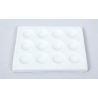 Lot of 3 Coors Ceramic Porcelain Spot Plates, 12 Wells, 118x94mm
