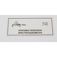 Li-Cor LI-1800 Portable Spectroradiometer LI-1800/22