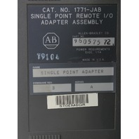 Allen Bradly 1771-JAB Single Point Remote I/O Adapter Assembly Single Point Adapter