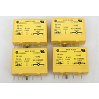 Lot of  4 Allen Bradley Gordos LR38595 E46203 1771-JIA Relay 30VDC 50mA