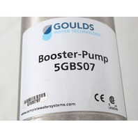 Goulds 5GBS07 Multi-Stage Centrifugal Booster Pump Stainless Steel, 3/4HP, 8 GPM