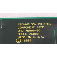 Technology 80 Inc Model 5000 Stepper Controller BRD #800048G