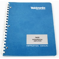 Tektronix Instruction User Manual for 7A22 Differntial Amplifier, Rev B