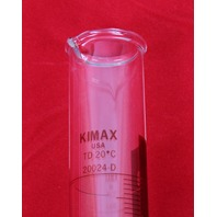 Kimble 20024-d-100 KIMAX 100mL Class B Glass Graduated Cylinder