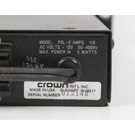 CROWN PSL-2 Straight Line Pre Amplifier -Fully Tested!-
