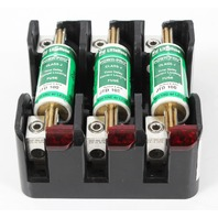 Littlefuse LFJ60100-3CID Fuse Block w/ 3x Time Delay Current Limit Fuses JTD-100