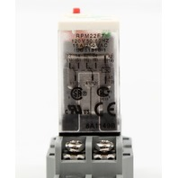 Schneider Electric 8-Pin 120V Relay, RPM22F7 w/ IDEC SH2B-05 Relay Socket