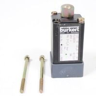 Burkert Type 0115 3/2 Solenoid Valve 0115-A-06.0-F-PV-E-310 0-0.6 bar 24VDC 8W
