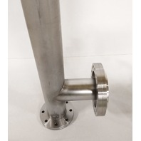"""MDC Stainless UHV Vacuum 2x 4.5""""   6"""" Tee CF Conflat x 60.5""""L Union Tee DN100"""