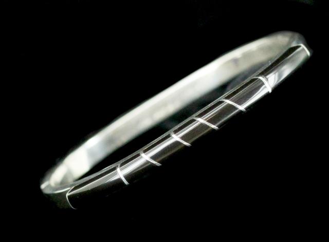 Vintage  Sterling Silver Black Onyx Chain Bracelet Mexico  925   REDUCED PRICE