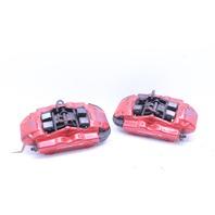 2004-2010 Porsche Cayenne Turbo Rear Brake Caliper Set Pair Brembo Red
